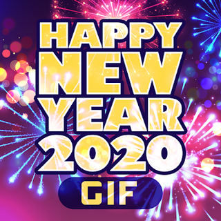 Happy New Year 2020 Cards GIF Icon